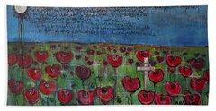 Love For Flanders Fields Poppies Beach Towel