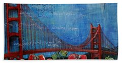 Love For San Francisco Beach Towel