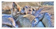 Love Hug - San Simeon California Beach Towel