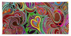 love in every shade of U v7 - love in every shade of blue Beach Towel
