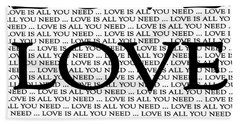 Love Is All You Need Beach Towel