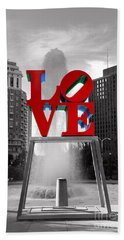Love Isn't Always Black And White Beach Towel by Paul Ward