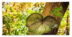 Love Leaf Beach Towel