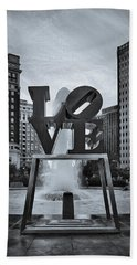 Love Park Bw Beach Sheet