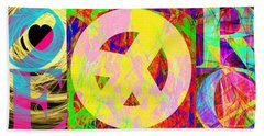 Beach Towel featuring the photograph Love Peace And Rock And Roll Return To The Summer Of Love 20140605 by Wingsdomain Art and Photography