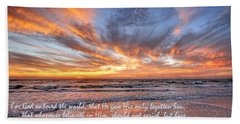 Love Personified Beach Sheet