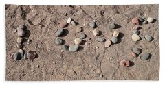 Love Rocks Beach Sheet