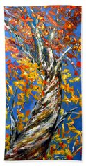 Beach Towel featuring the painting Love That Reaches by Meaghan Troup
