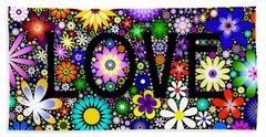 Love The Flowers Beach Sheet
