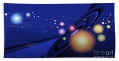 Beach Towel featuring the digital art Love  Universe by Eleni Mac Synodinos