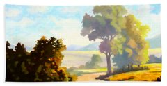 Beach Towel featuring the painting Lovely Day by Anthony Mwangi