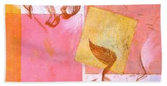 Beach Towel featuring the painting Lovers Dance 2 In Sienna And Pink  by Asha Carolyn Young