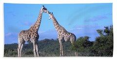 Lovers On Safari Beach Sheet
