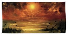 Lovers Sunset Beach Towel