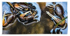 Low Tide Breakfast  Beach Sheet by Mary Ward