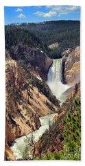 Lower Falls Of Yellowstone Beach Sheet