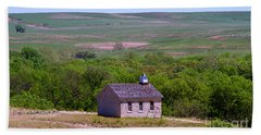 Lower Fox Creek Schoolhouse In The Flint Hills Of Kansas Beach Towel