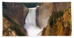 Beach Sheet featuring the photograph Lower Yellowstone Falls by Eric Tressler