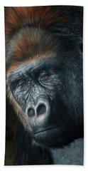 Lowland Gorilla Painting Beach Towel