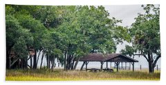 Lowland Picnic Place  Beach Sheet by Mary Ward