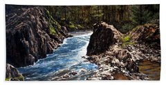 Lucia Falls Downstream Beach Towel