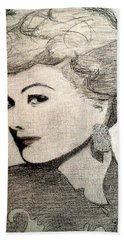 Lucille Ball Beach Towel