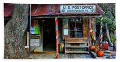 Luckenbach Texas Beach Towel by Judy Vincent