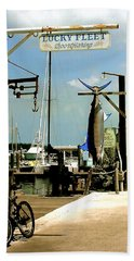 Lucky Fleet Key West  Beach Sheet by Iconic Images Art Gallery David Pucciarelli