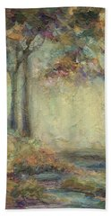 Beach Towel featuring the painting Luminous Landscape by Mary Wolf