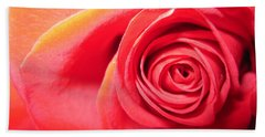 Luminous Red Rose 1 Beach Towel