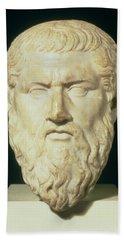 Luna Marble Head Of Plato, Roman, 1st Beach Towel
