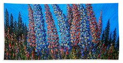 Lupins - Study No. 1 Beach Towel
