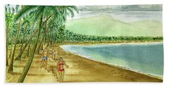 Luquillo Beach And El Yunque Puerto Rico Beach Sheet by Frank Hunter