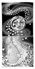 Beach Towel featuring the digital art Lure Of Moonlight by Carol Jacobs