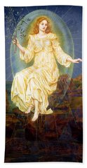 Lux In Tenebris Beach Sheet by Evelyn De Morgan
