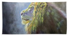 Lying In The Moonlight, Lion Beach Towel