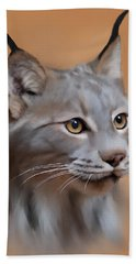 Lynx Portrait Beach Towel