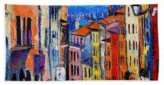 Lyon Colorful Cityscape Beach Towel