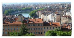 Beach Towel featuring the photograph Lyon From Above by Dany Lison