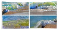 Lyrical Literacy Of Waves Beach Towel