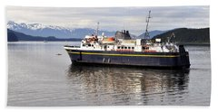 Beach Towel featuring the photograph M/v Leconte by Cathy Mahnke