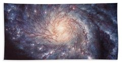 M101 Pinwheel Galaxy Beach Towel