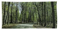 M119 Tunnel Of Trees Michigan Beach Towel