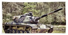 M60 Patton Tank Beach Towel