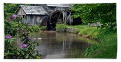 Mabry Mill In May Beach Sheet by John Haldane