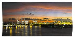 Macarthur Causeway Bridge Beach Towel