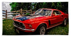 1969 Ford Mach 1 Mustang Beach Towel