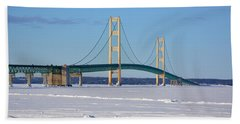 Mackinac In March Beach Towel