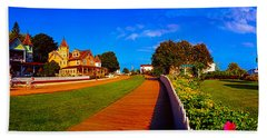 Mackinac Island Flower Garden  Beach Sheet