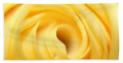 Macro Yellow Rose Beach Towel